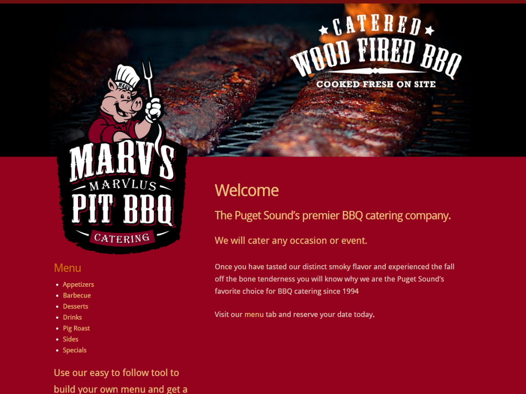 BBQ Catering Company Website