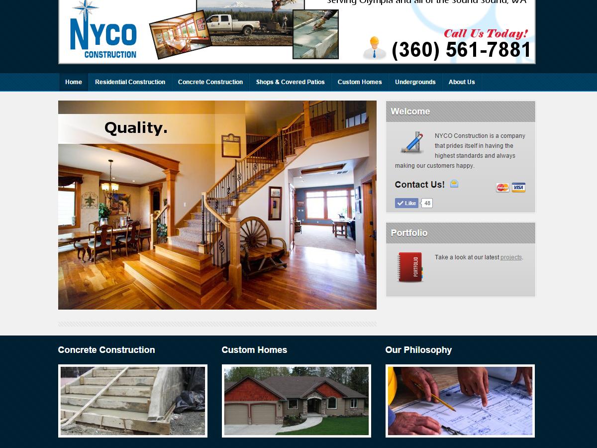 General Contractor Website - True Cedar LLC